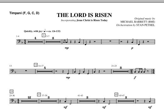 The Lord Is Risen - Timpani Sheet Music