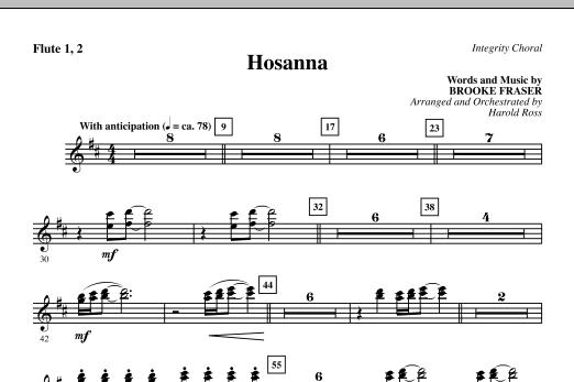 Hosanna - Flute 1 & 2 (Choir Instrumental Pak)
