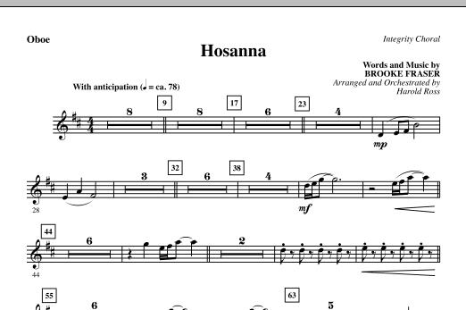 Hosanna - Oboe (Choir Instrumental Pak)