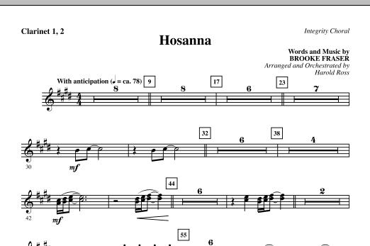 Hosanna - Clarinet 1 & 2 (Choir Instrumental Pak)