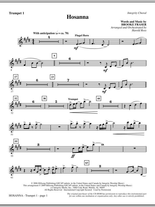 Hosanna - Trumpet 1 (Choir Instrumental Pak)