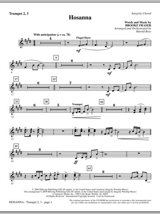 Hosanna - Trumpet 2 & 3 (Choir Instrumental Pak)