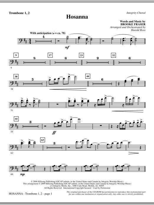 Hosanna - Trombone 1 & 2 (Choir Instrumental Pak)