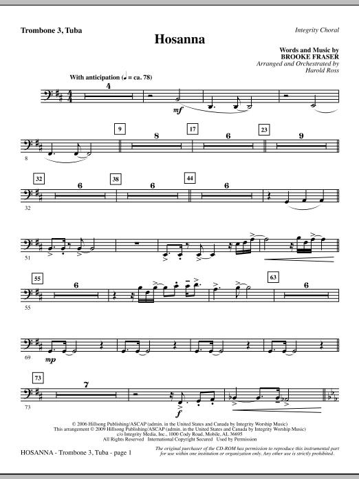 Hosanna - Trombone 3/Tuba (Choir Instrumental Pak)
