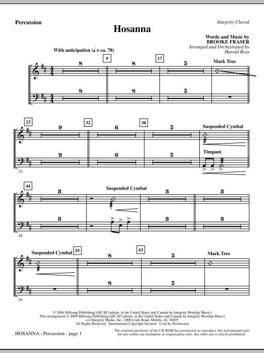 Hosanna - Percussion (Choir Instrumental Pak)
