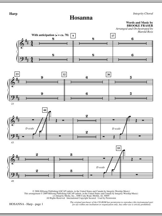 Hosanna - Harp (Choir Instrumental Pak)