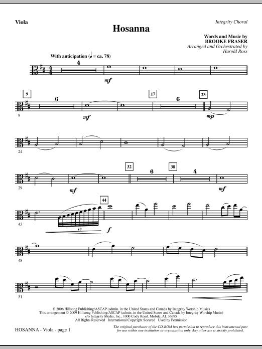 Hosanna - Viola (Choir Instrumental Pak)