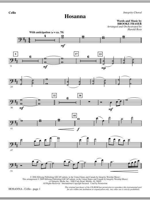 Hosanna - Cello (Choir Instrumental Pak)