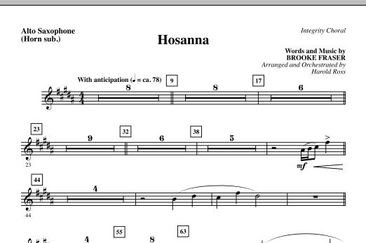 Hosanna - Alto Sax (sub. Horn) (Choir Instrumental Pak)