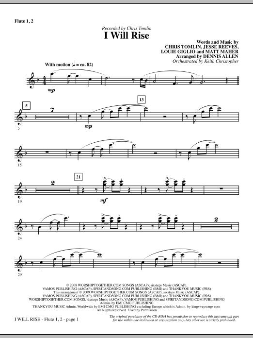 I Will Rise - Flute 1 & 2 Sheet Music
