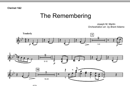 The Remembering - Bb Clarinet 1,2 Sheet Music