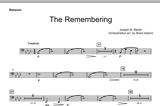 The Remembering - Bassoon Sheet Music
