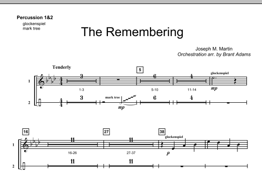 The Remembering - Percussion 1 & 2 Sheet Music