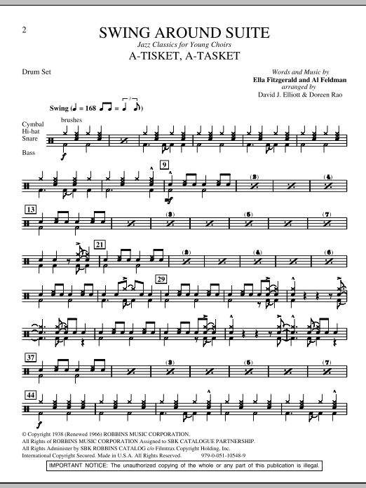 Swing Around Suite - Drum Set Sheet Music