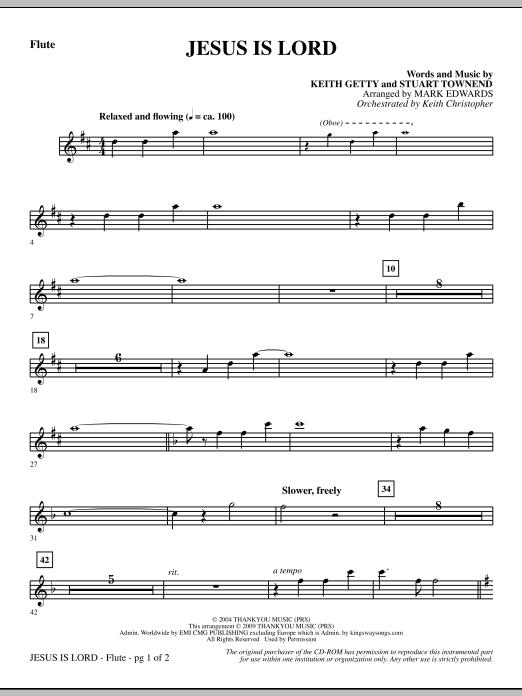 Jesus Is Lord - Flute Sheet Music