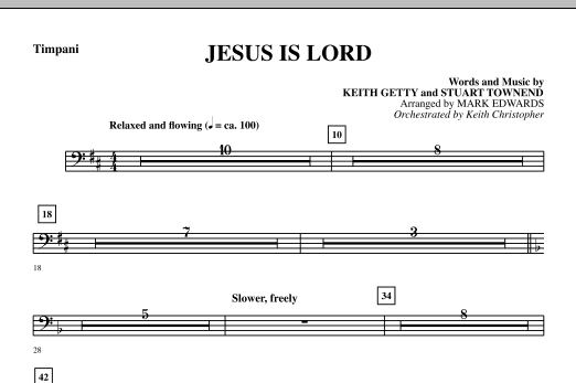 Jesus Is Lord - Timpani Sheet Music