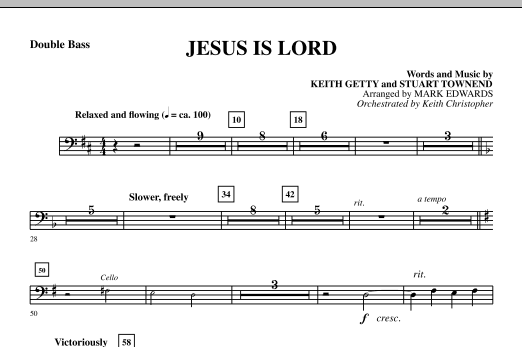 Jesus Is Lord - Double Bass Sheet Music