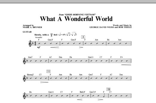 What A Wonderful World - Guitar (Choir Instrumental Pak)