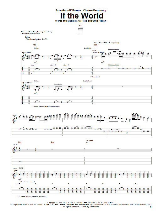 If The World Sheet Music
