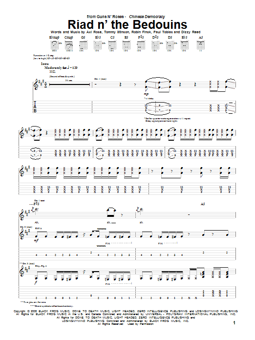 Riad N' The Bedouins (Guitar Tab)