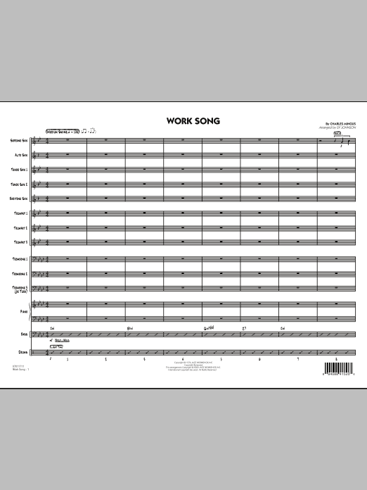 Work Song (COMPLETE) sheet music for jazz band by Charles Mingus. Score Image Preview.