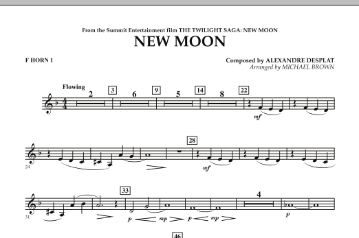 New Moon (The Meadow) - F Horn 1 (Concert Band)