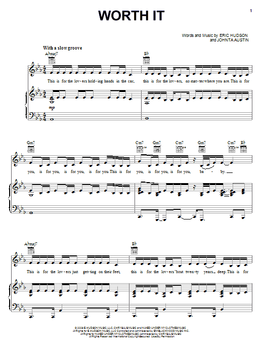 Worth It Sheet Music