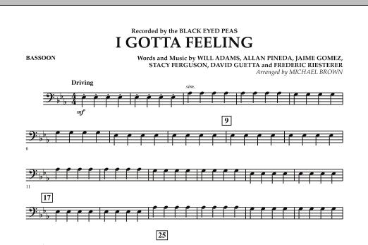 I Gotta Feeling - Bassoon (Concert Band)
