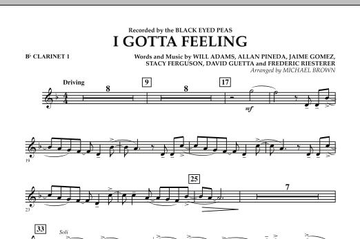 I Gotta Feeling - Bb Clarinet 1 (Concert Band)