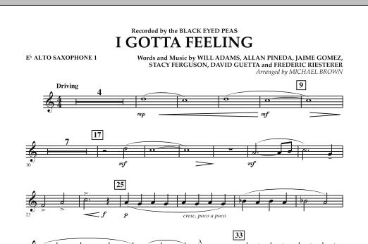 I Gotta Feeling - Eb Alto Saxophone 1 (Concert Band)