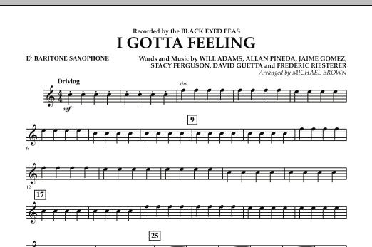 I Gotta Feeling - Eb Baritone Saxophone (Concert Band)