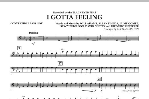 I Gotta Feeling - Convertible Bass Line (Concert Band)