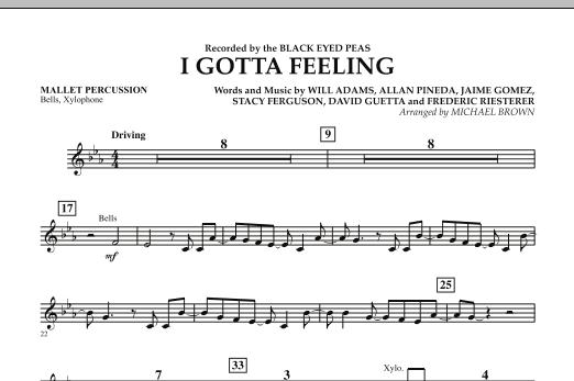 I Gotta Feeling - Mallet Percussion (Concert Band)