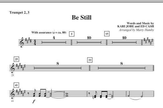 Be Still - Trumpet 2 & 3 Sheet Music