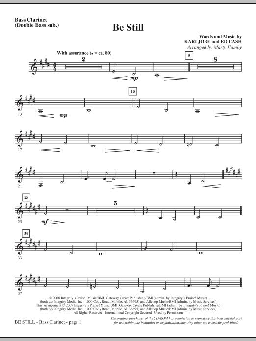 Be Still - Bass Clar. (Double Bass sub.) Sheet Music