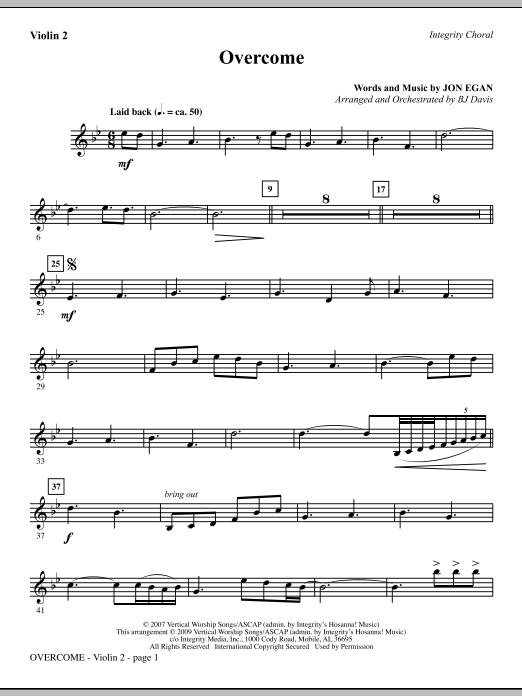 Overcome - Violin 2 Sheet Music