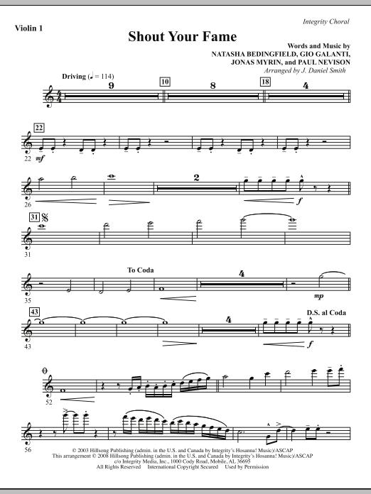 Shout Your Fame - Violin 1 Sheet Music