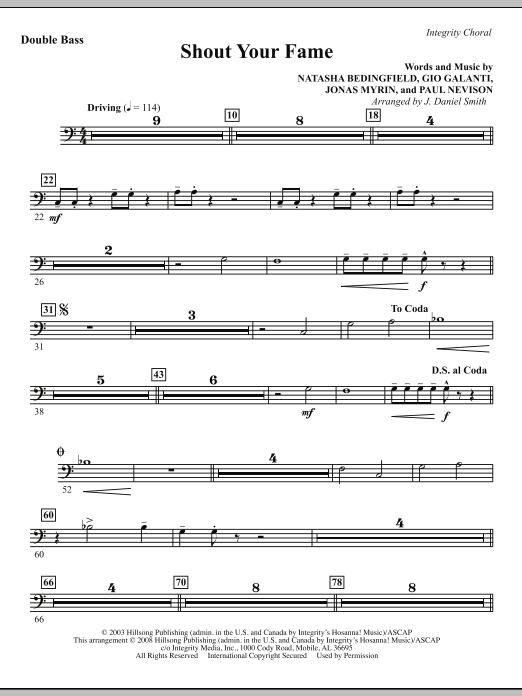 Shout Your Fame - Double Bass Sheet Music