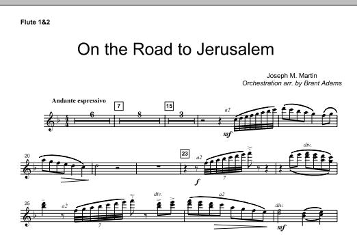 On The Road To Jerusalem - Flute 1 & 2 (Choir Instrumental Pak)