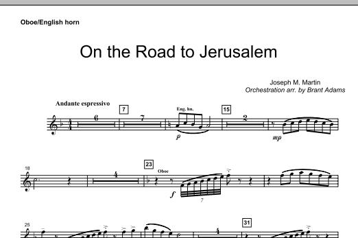On The Road To Jerusalem - Oboe (Choir Instrumental Pak)