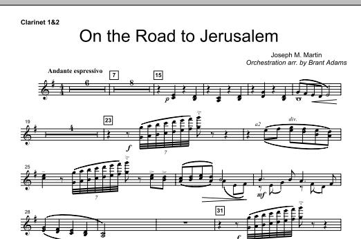 On The Road To Jerusalem - Bb Clarinet 1,2 (Choir Instrumental Pak)