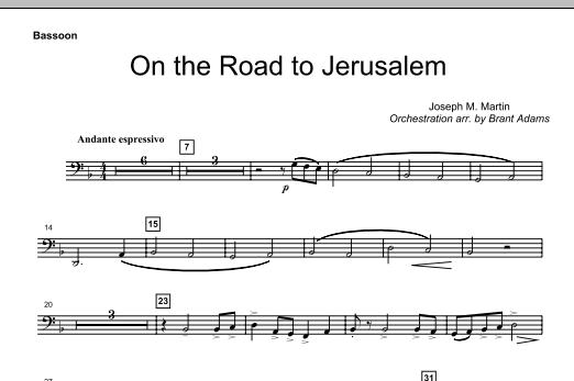 On The Road To Jerusalem - Bassoon (Choir Instrumental Pak)