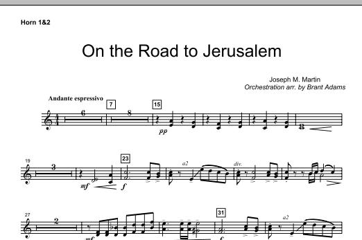 On The Road To Jerusalem - F Horn 1,2 (Choir Instrumental Pak)