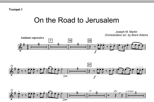 On The Road To Jerusalem - Bb Trumpet 1 (Choir Instrumental Pak)