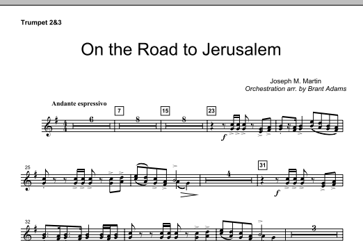 On The Road To Jerusalem - Bb Trumpet 2,3 (Choir Instrumental Pak)