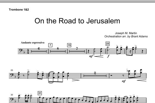On The Road To Jerusalem - Trombone 1 & 2 (Choir Instrumental Pak)