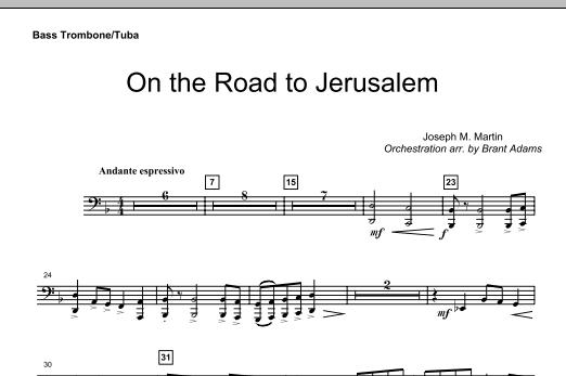 On The Road To Jerusalem - Bass Trombone/Tuba (Choir Instrumental Pak)