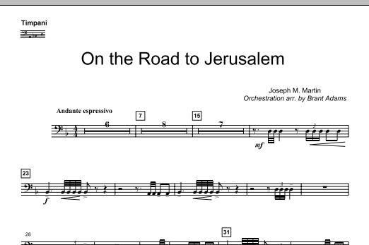 On The Road To Jerusalem - Timpani (Choir Instrumental Pak)