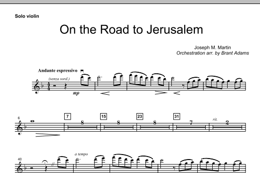 On The Road To Jerusalem - Solo Violin (Choir Instrumental Pak)
