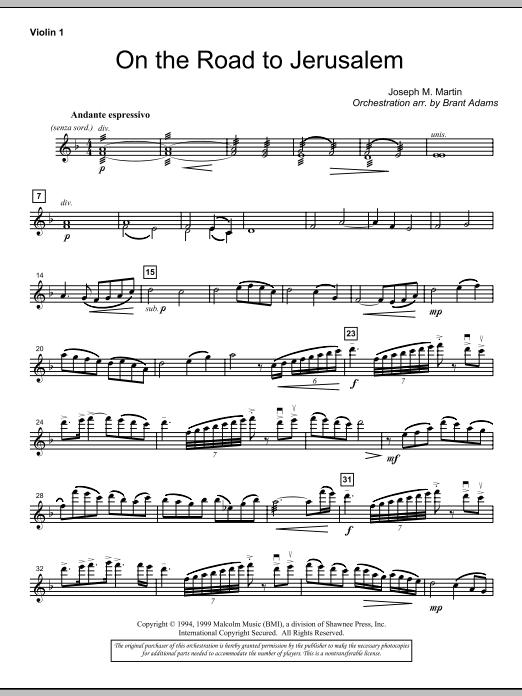 On The Road To Jerusalem - Violin 1 (Choir Instrumental Pak)